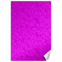 Triangle Pattern Seamless Color Canvas 24  X 36