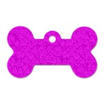 Triangle Pattern Seamless Color Dog Tag Bone (One Side) Front