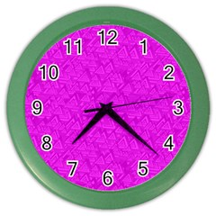 Triangle Pattern Seamless Color Color Wall Clock