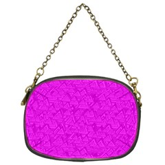 Triangle Pattern Seamless Color Chain Purse (one Side)