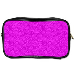 Triangle Pattern Seamless Color Toiletries Bag (two Sides)