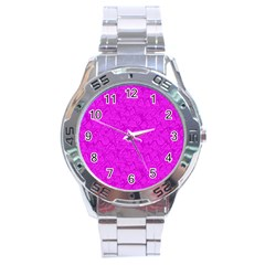 Triangle Pattern Seamless Color Stainless Steel Analogue Watch