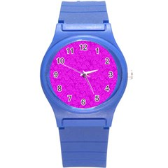 Triangle Pattern Seamless Color Round Plastic Sport Watch (s)
