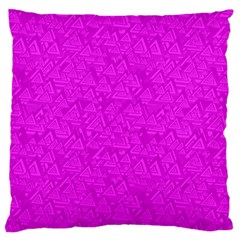 Triangle Pattern Seamless Color Large Cushion Case (one Side)