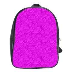 Triangle Pattern Seamless Color School Bag (xl)