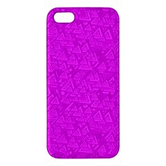 Triangle Pattern Seamless Color Apple Iphone 5 Premium Hardshell Case
