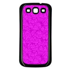 Triangle Pattern Seamless Color Samsung Galaxy S3 Back Case (black)