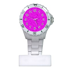 Triangle Pattern Seamless Color Plastic Nurses Watch