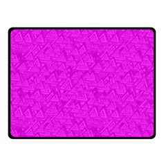 Triangle Pattern Seamless Color Double Sided Fleece Blanket (small)