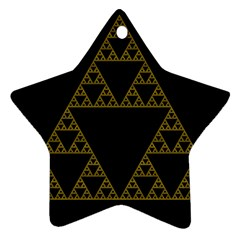 Sierpinski Triangle Chaos Fractal Ornament (star)