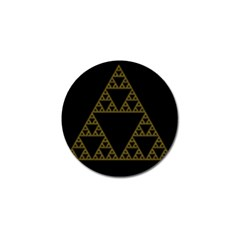 Sierpinski Triangle Chaos Fractal Golf Ball Marker (4 Pack)