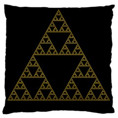 Sierpinski Triangle Chaos Fractal Large Flano Cushion Case (two Sides)