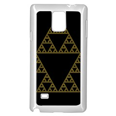 Sierpinski Triangle Chaos Fractal Samsung Galaxy Note 4 Case (white) by Alisyart