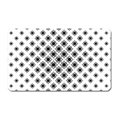 Stylized Flower Floral Pattern Magnet (rectangular)