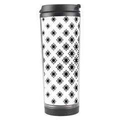 Stylized Flower Floral Pattern Travel Tumbler