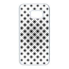 Stylized Flower Floral Pattern Samsung Galaxy S7 White Seamless Case by Alisyart