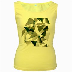 Triangle Blue Women s Yellow Tank Top by Alisyart