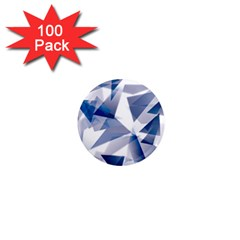 Triangle Blue 1  Mini Magnets (100 Pack)  by Alisyart
