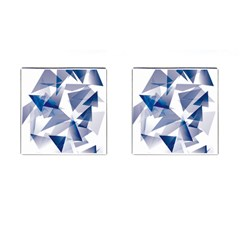 Triangle Blue Cufflinks (square) by Alisyart