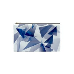 Triangle Blue Cosmetic Bag (small)