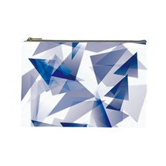 Triangle Blue Cosmetic Bag (large)