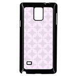 Star Pattern Texture Background Samsung Galaxy Note 4 Case (Black) Front