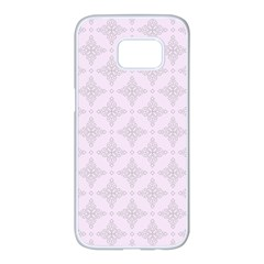 Star Pattern Texture Background Samsung Galaxy S7 Edge White Seamless Case