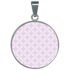 Star Pattern Texture Background 30mm Round Necklace by Alisyart