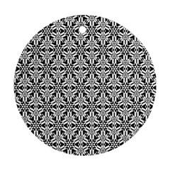 Ornamental Checkerboard Ornament (round) by Mariart