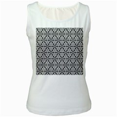 Ornamental Checkerboard Women s White Tank Top by Mariart