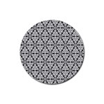 Ornamental Checkerboard Rubber Round Coaster (4 pack)  Front