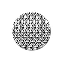 Ornamental Checkerboard Magnet 3  (round) by Mariart