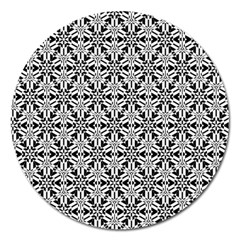 Ornamental Checkerboard Magnet 5  (round) by Mariart