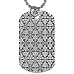 Ornamental Checkerboard Dog Tag (One Side) Front