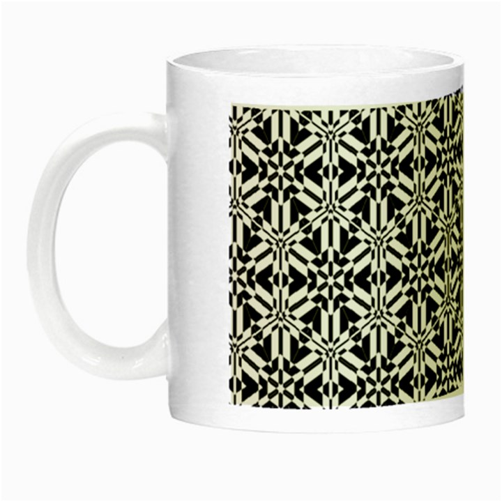 Ornamental Checkerboard Night Luminous Mugs