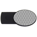 Ornamental Checkerboard USB Flash Drive Oval (4 GB) Front