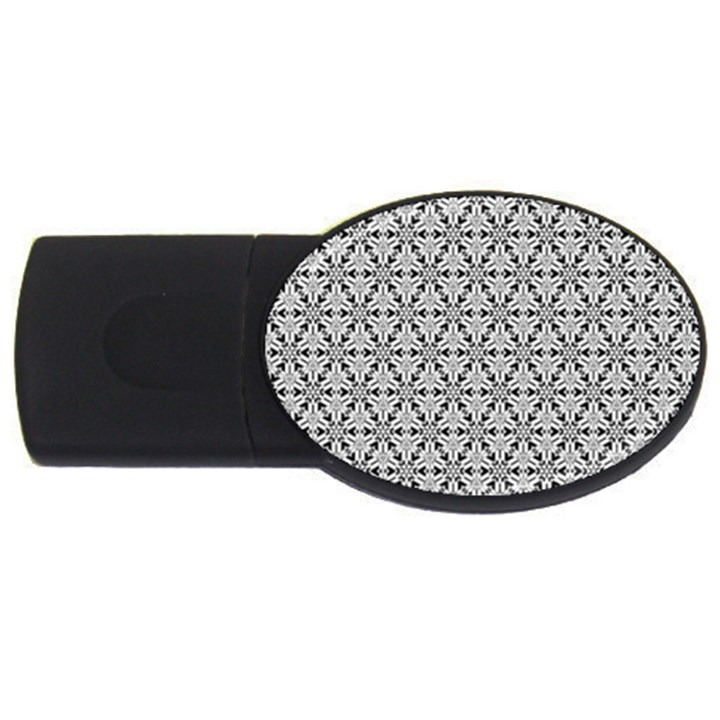 Ornamental Checkerboard USB Flash Drive Oval (4 GB)