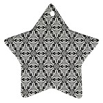 Ornamental Checkerboard Star Ornament (Two Sides) Back
