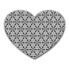 Ornamental Checkerboard Heart Mousepads by Mariart