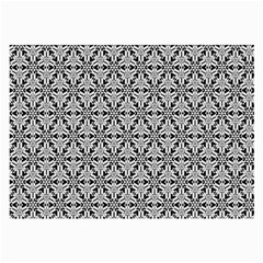 Ornamental Checkerboard Large Glasses Cloth by Mariart