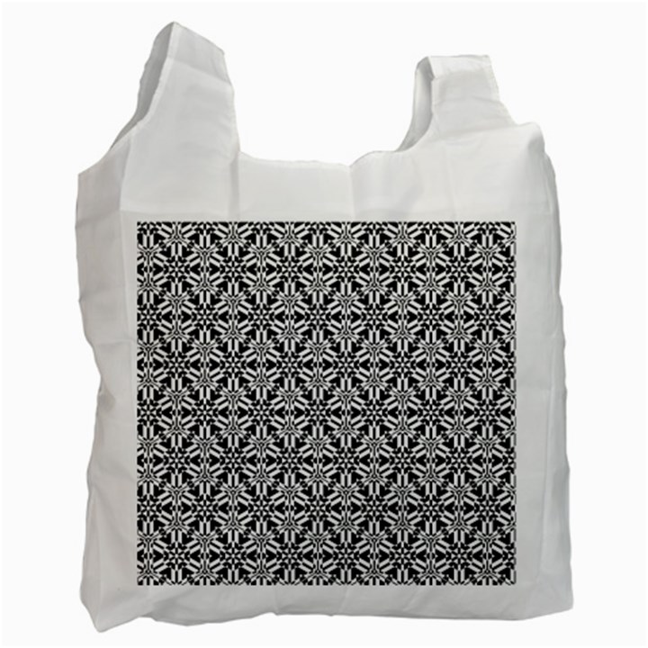Ornamental Checkerboard Recycle Bag (One Side)