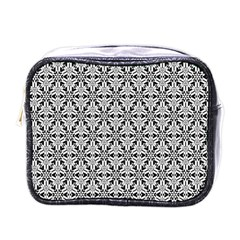 Ornamental Checkerboard Mini Toiletries Bag (one Side)