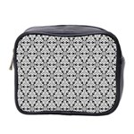 Ornamental Checkerboard Mini Toiletries Bag (Two Sides) Front