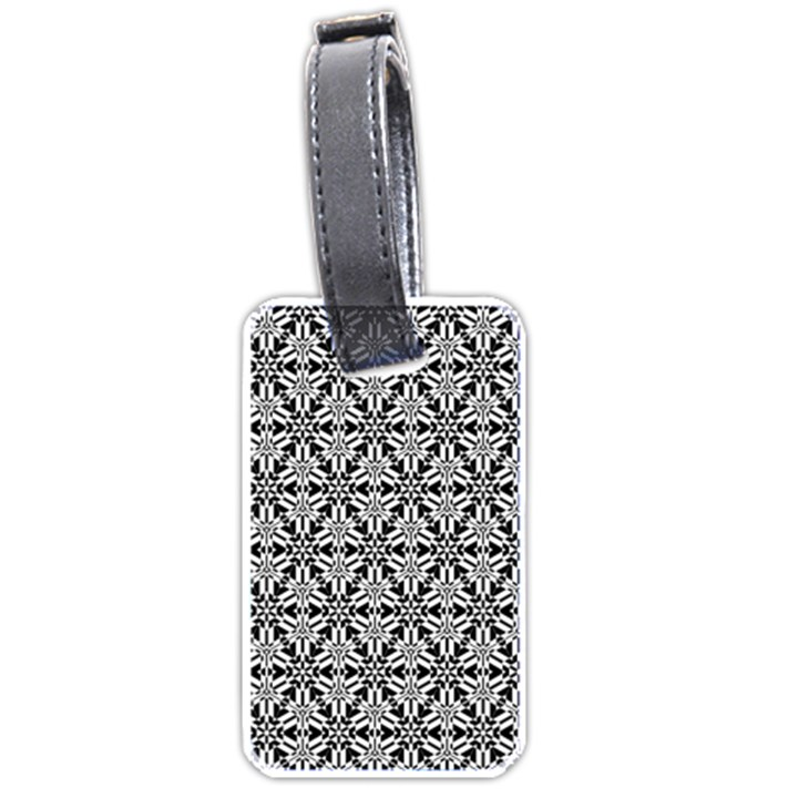 Ornamental Checkerboard Luggage Tags (Two Sides)