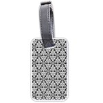 Ornamental Checkerboard Luggage Tags (Two Sides) Back
