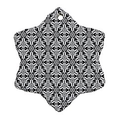 Ornamental Checkerboard Snowflake Ornament (two Sides) by Mariart