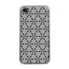 Ornamental Checkerboard Apple Iphone 4 Case (clear)