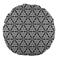 Ornamental Checkerboard Large 18  Premium Round Cushions