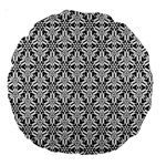 Ornamental Checkerboard Large 18  Premium Round Cushions Back