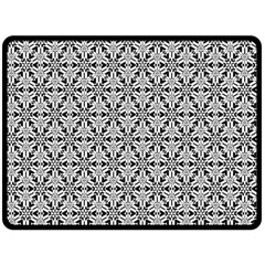 Ornamental Checkerboard Double Sided Fleece Blanket (large)  by Mariart